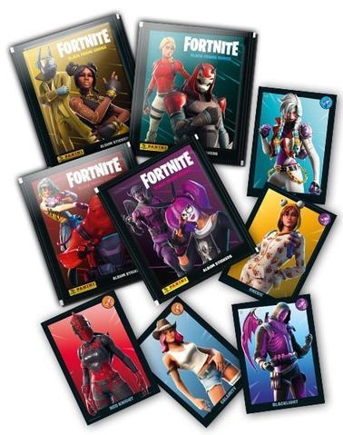 FORTNITE BLACK FRAME SERIES ALBUM STICKERS | 8018190007954 | FORTNITE